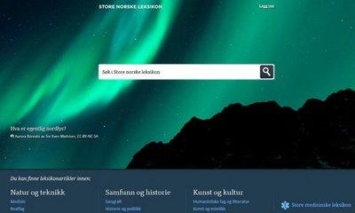 Onlineversion des Store Norske Leksikon